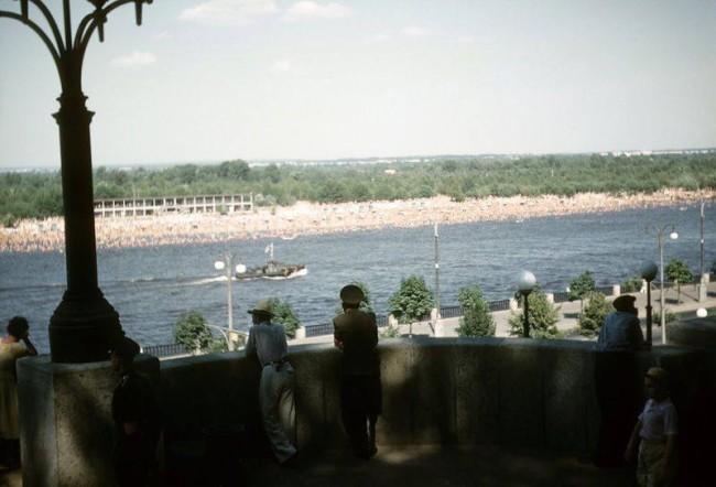 1958 год. Труханов остров, вид с Правого берега. Фото Джон Шульц.