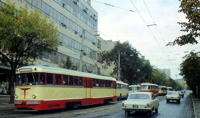 Трамваи на Подоле в 70-х годах
