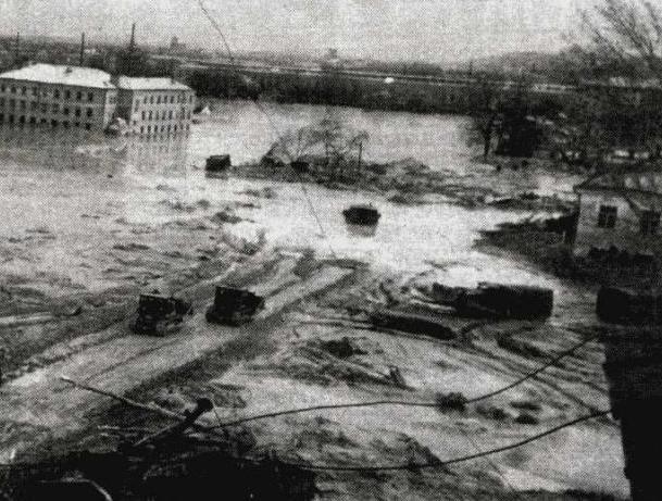 Разрушения во время Куреневской трагедии 61 года