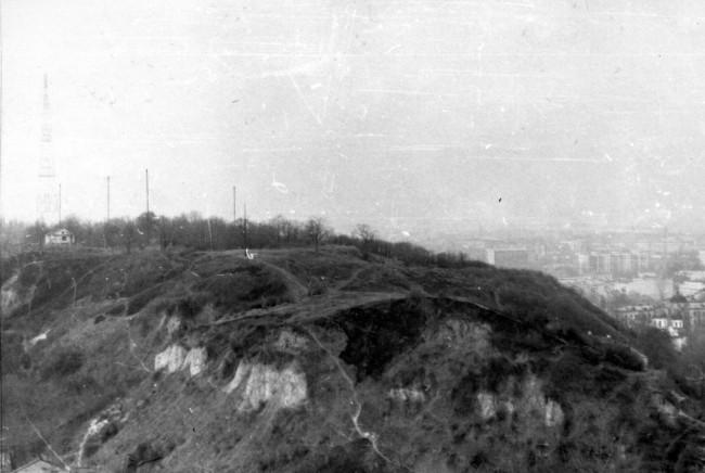 Вид на Замковую гору в 1980 году