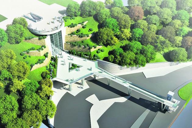 Днепровские склоны, проект реконструкции смотровой площадки