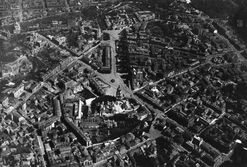 Вид на Киев с воздуха, 1918 год, центр города
