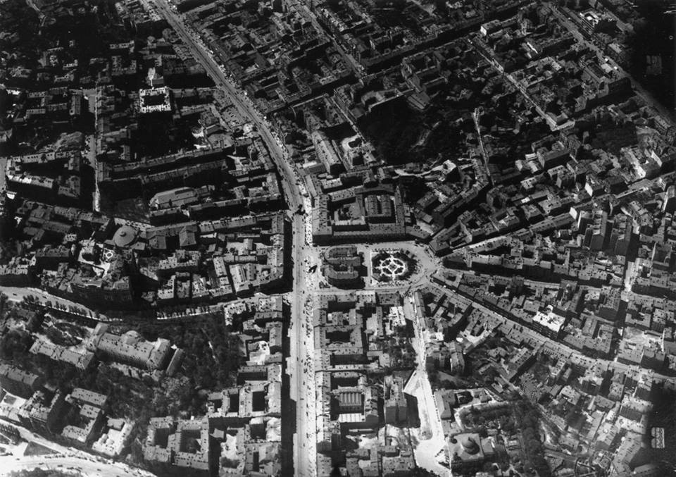 Вид на Киев с воздуха в 1918 году