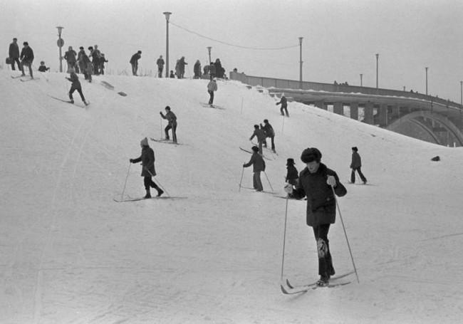 Зима в киевском гидропарке в 78 году