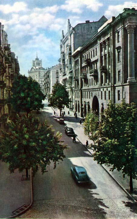 Улица Заньковецкой в 1959 году в Киеве