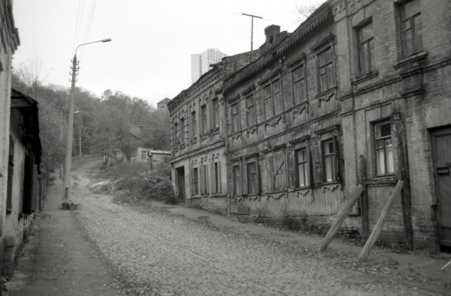 Смирнова-Ласточкина улица в 80-е годы, Киев, Подол