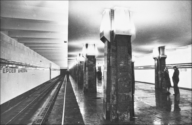 Станция метро Героев Днепра в 80-х годах