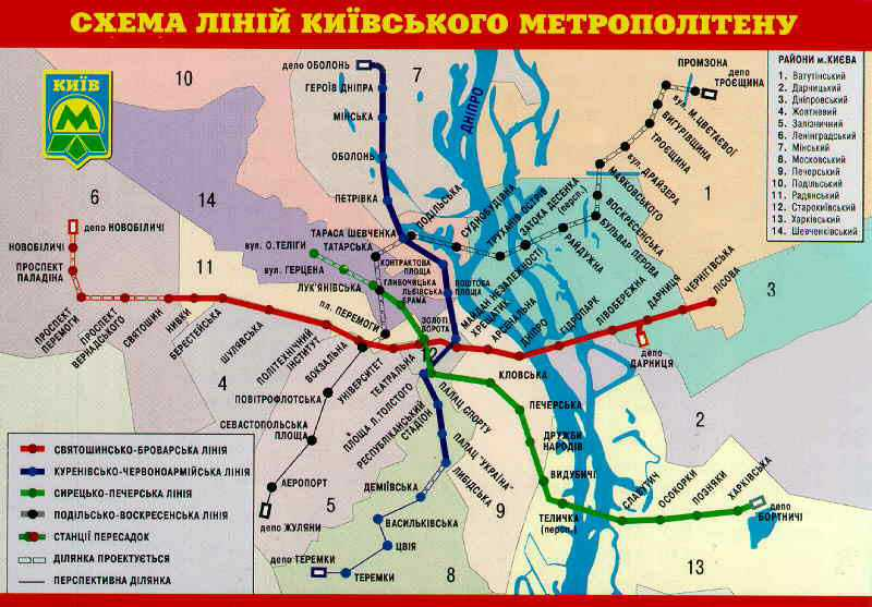 Старый Киев | Схемы линий