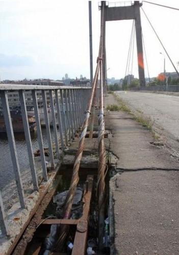 Разрушение Рыбальского моста