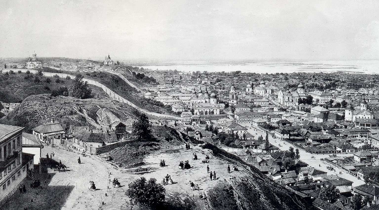 Рисунок 1862 года, вид на Киев