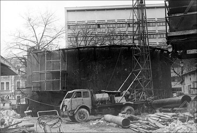 Как строили станцию метро Золотые Ворота в Киеве