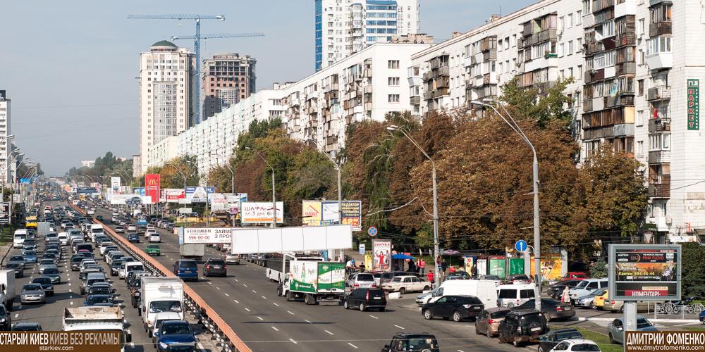 Брест-Литовский проспект с наружной рекламой