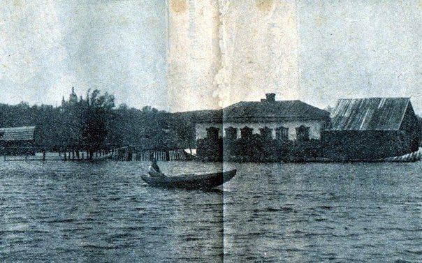 Наводнение на улице Фрунзе в начале 20 века