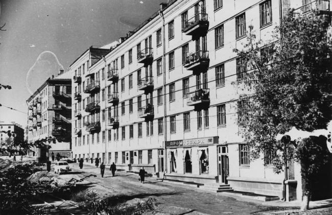 Белорусская улица в октябре 1959 года