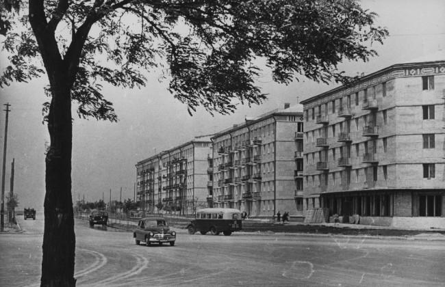 Площадь Космонавтов в 1960 году