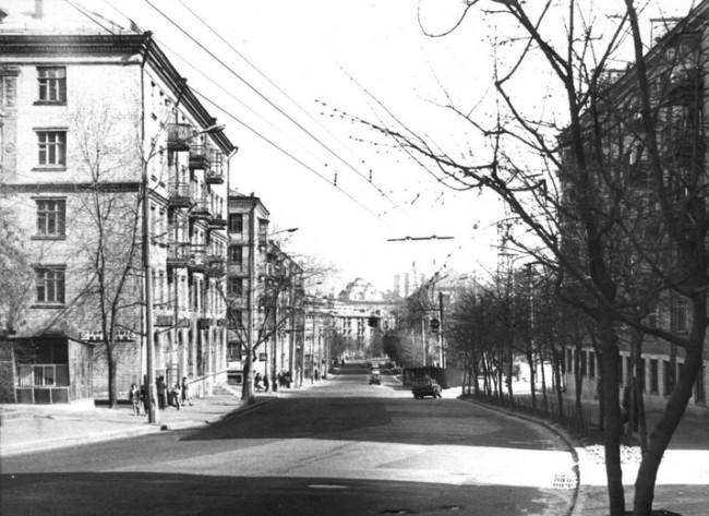 Белорусская улица в Киеве в 80-х годах