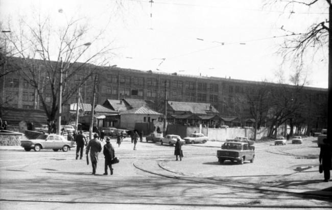 Белорусская улица и Лукьяновский рынок в Киеве в 80-х годах