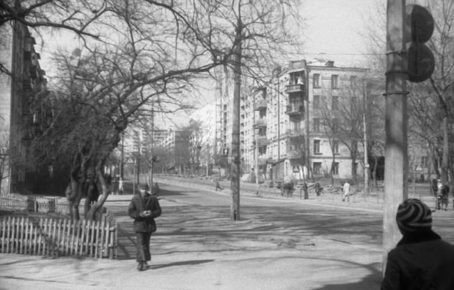 Белорусская улица в Киеве в 1980-х годах