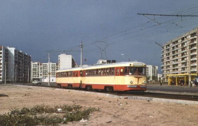 Трамвай на проспекте Малиновского в 80-х годах