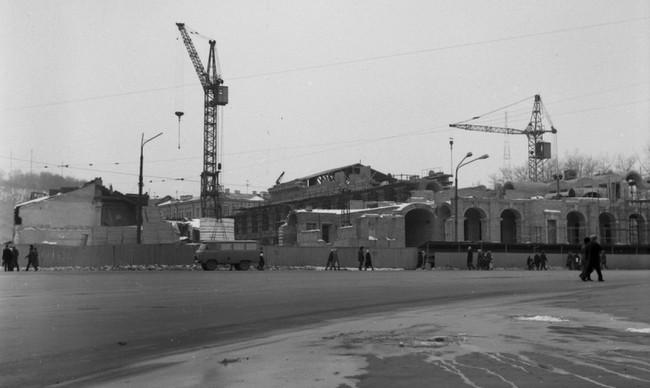 Как реставрировали Гостиный двор в Киеве в 80-х годах