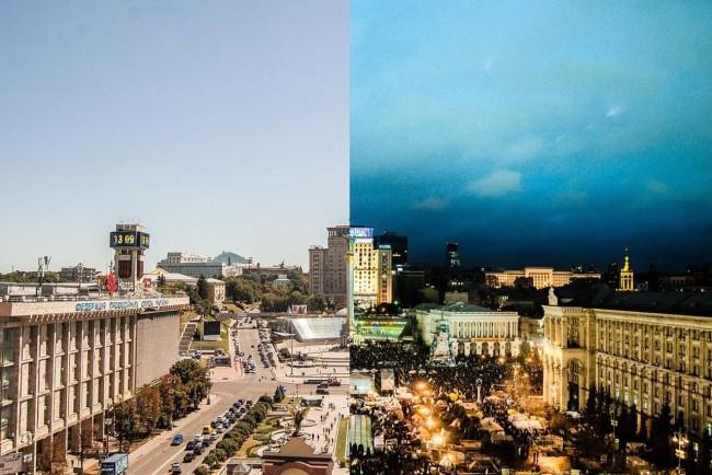 Майдан до ЕвроМайдана и во время него, днем и ночью
