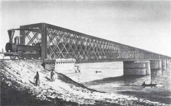 1870-е годы. Дарницкий железнодорожный мост