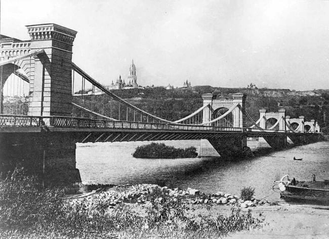 Конец 19 века в Киеве, мосты Киева