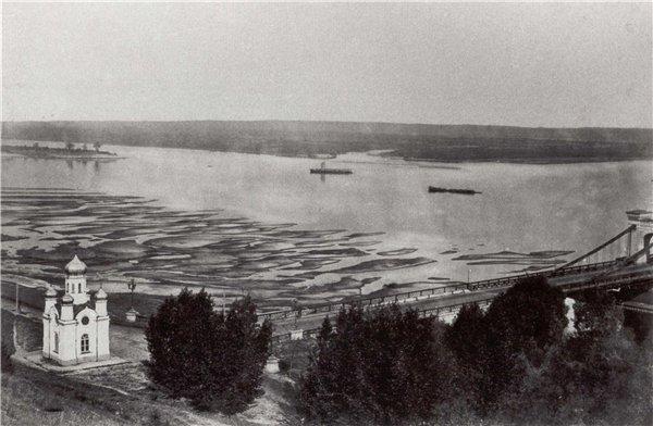Конец 19 века в Киеве - Цепной мост