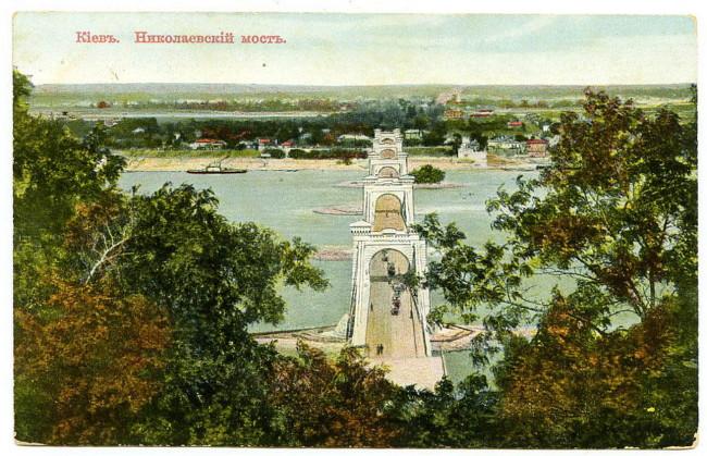 1900-е годы. Николаевский мост, цветное фото начала века