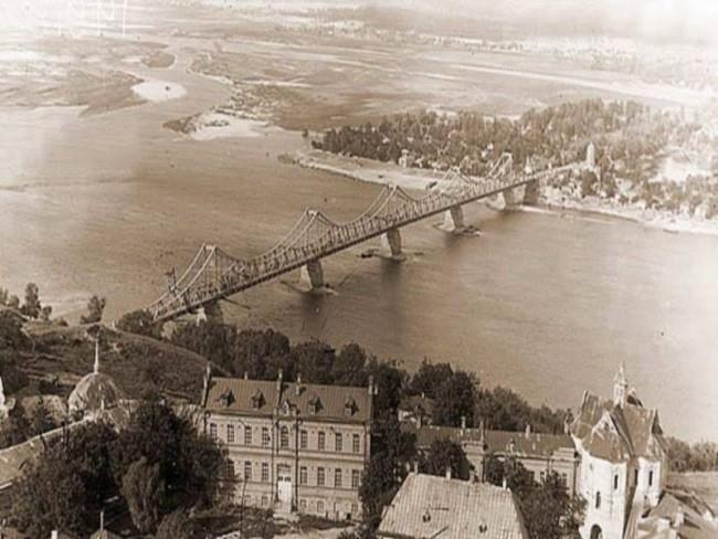 Несуществующий ныне мост Евгении Бош в Киеве