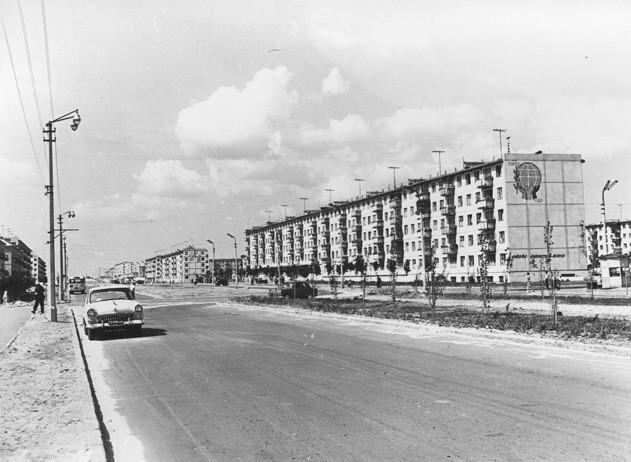 Киев, бульвар Верховного Совета в 50-х годах