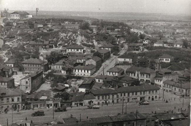 Нижний Вал, вид на Подол в 50-х годах