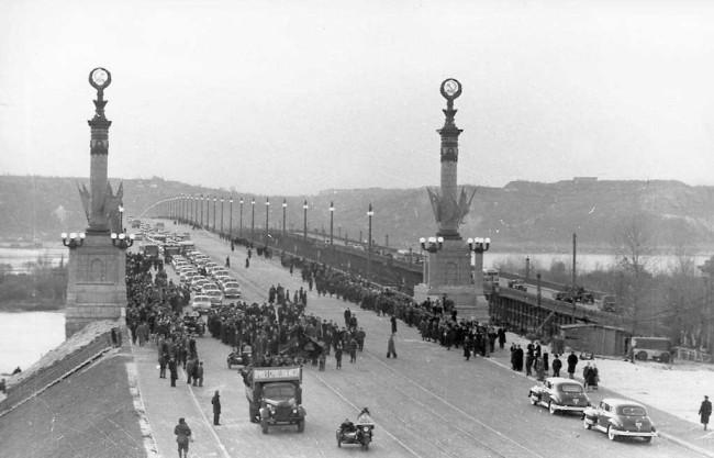 Как открывали мост Патона в Киеве