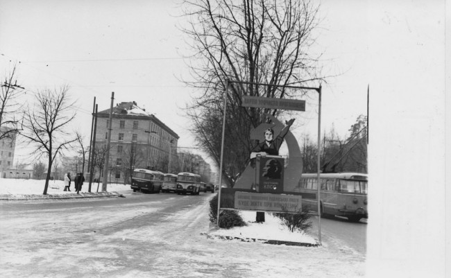 Площадь Шевченко в 60-х годах