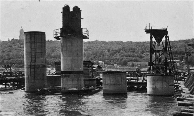 Как строили мост Метро в Киеве