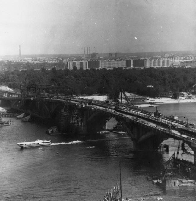 Как строили мост Метро в Киеве, 61 год