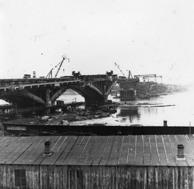 Как строили мост Метро, 61 год, Киев