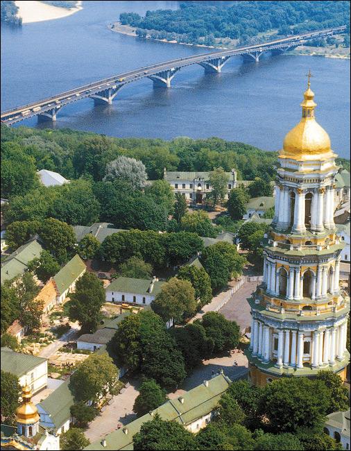 Мост Метро в Киеве в 70-х годах
