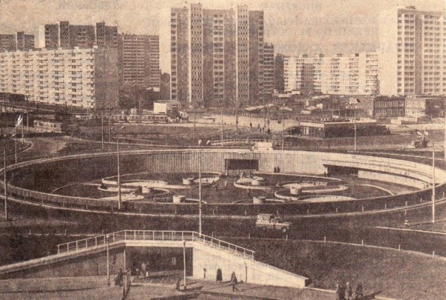 Улица Героев Днепра с высоты полета в 80-х годах