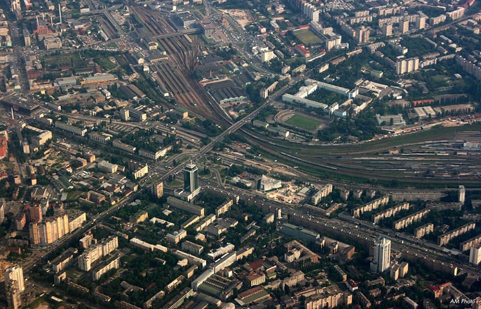 Как выглядит Киев с высоты - проспект Победы