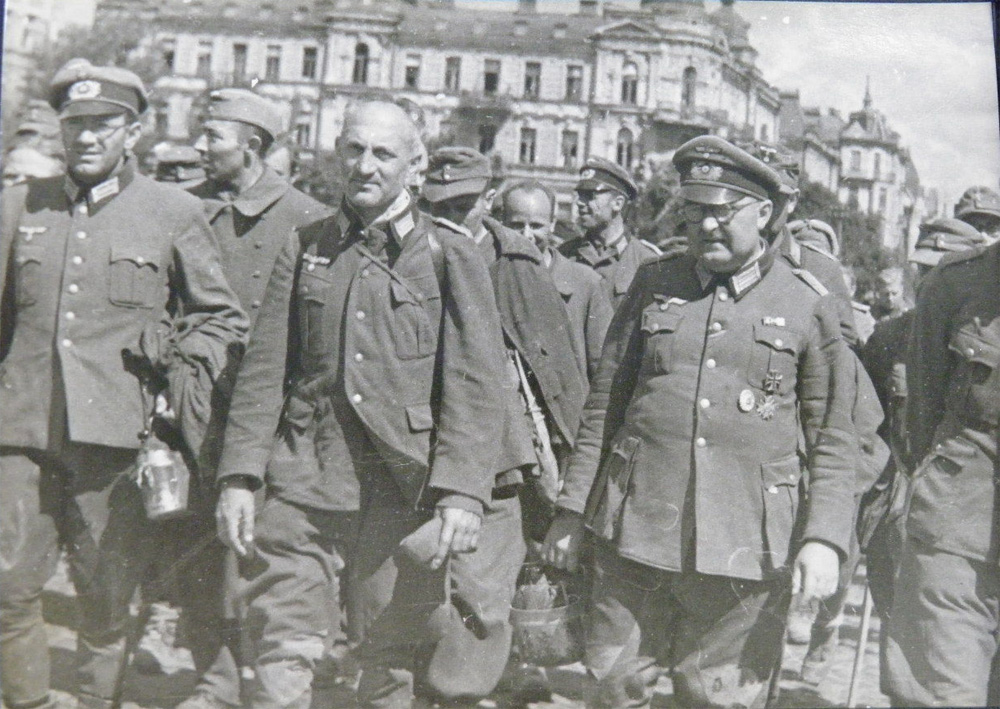 Пленные немцы Киев 1944 год