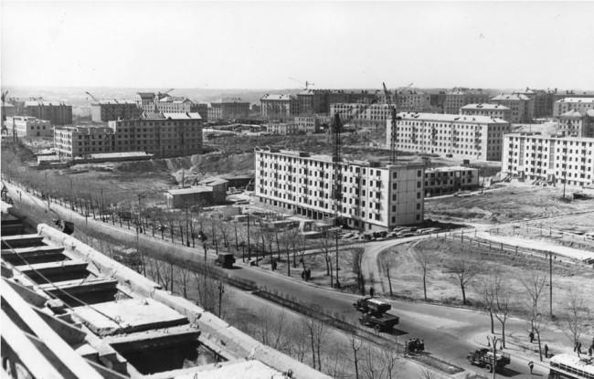 1950-е годы. Строительство Первомайского массива. Первые хрущевки Киева.