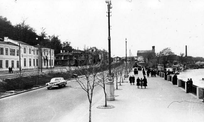 1950-е годы. Набережная Днепра