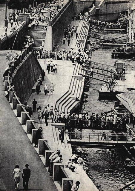 Днепр, причалы, Киев, 50-е годы