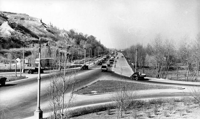 1959 год. Вид на набережную Днепра от моста Патона