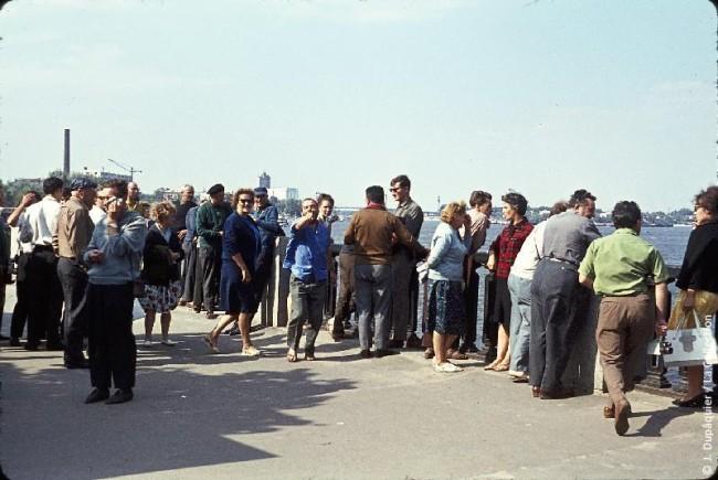 1964 год. Набережная Днепра © Jacques Dupâquier