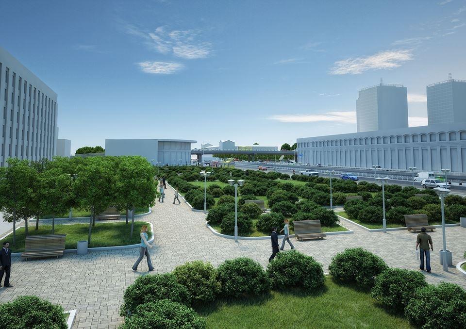 Проект реконструкции развязки у Шулявского моста. Парк и зеленые насаждения.