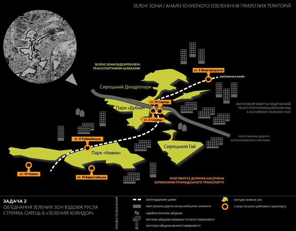 Сырец транспортный узел проект анализ озеленения зон рядом