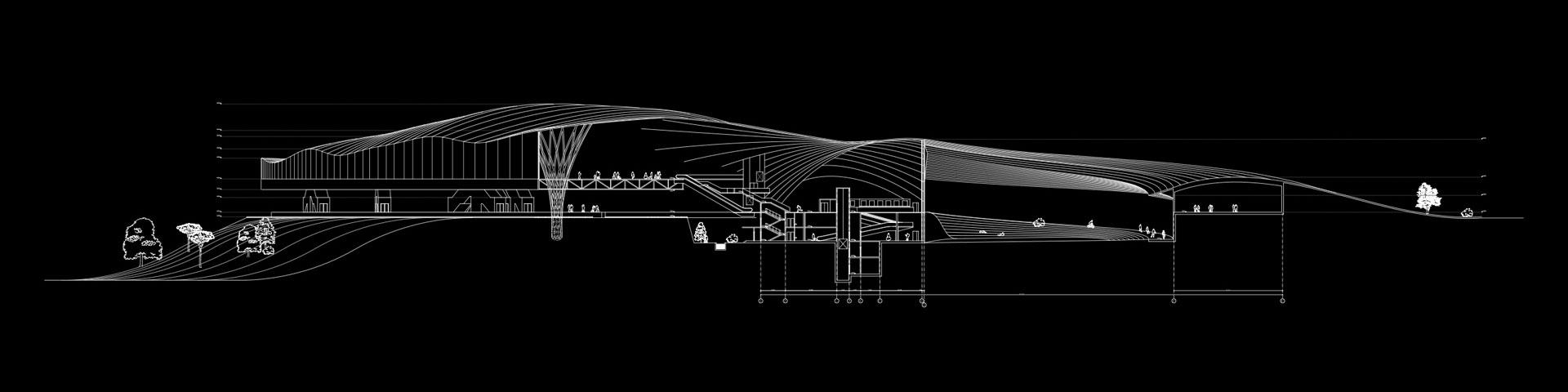 Сырец транспортный узел проект архитектурный разрез