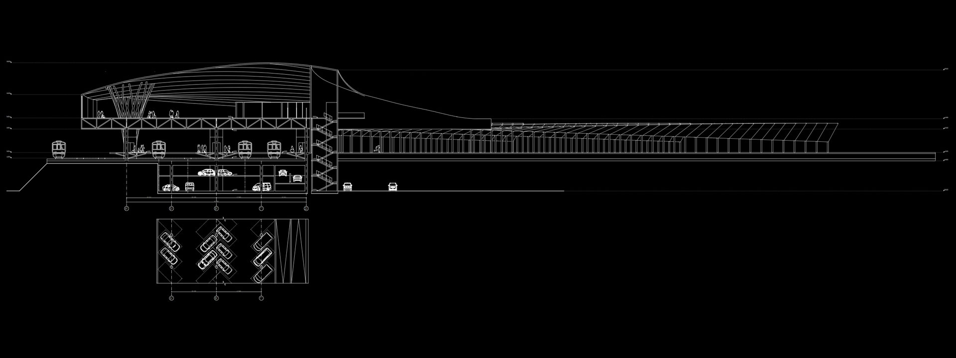 Сырец транспортный узел проект вертикальный разрез